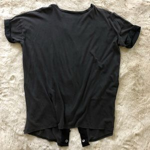 ZARA - WASHED OUT BLACK TEE, Small